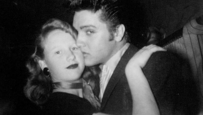 Photo from the Louisiana Hayride - Martha Tarver Chris and Elvis Presley.