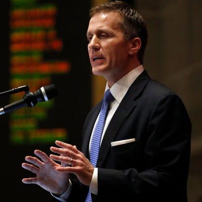 Missouri Gov. Eric Greitens delivers the annual State