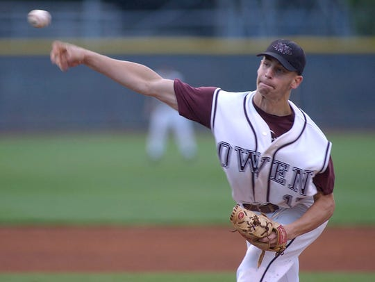 Owen alum Steven Hensley pitched the Warhorses to a