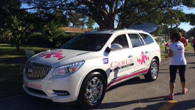 Carl's Buick-GMC kicked off the Martin County Making Strides Against Breast Walk this year with this beauty.