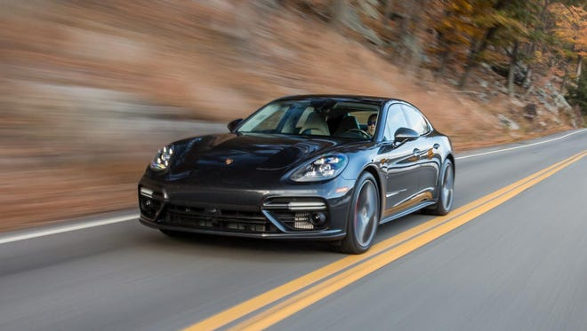 The new Porsche Panamera Turbo no longer looks rump-heavy, as it did, or like the forced marriage between a sports car and a box car.