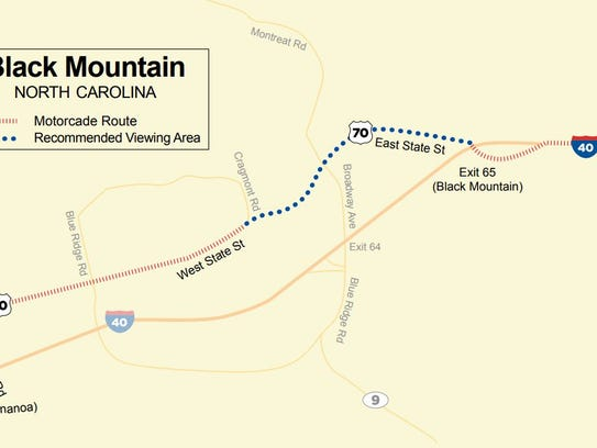 Map of Billy Graham's motorcade route