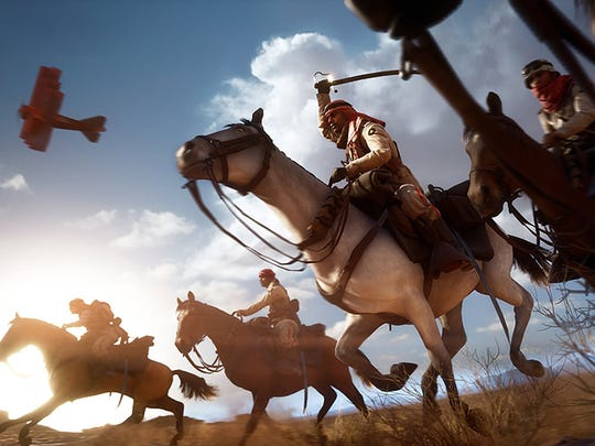 Horse, check. Sword, check. Shotgun, check. Yep, you're ready for desert warfare in Battlefield 1.