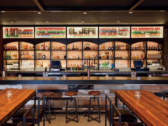 The bar at El Jefe at The Saguaro in Palm Springs.