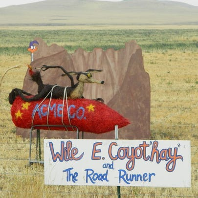 Montana Bale Trail/What the Hay contest: Wile E. Coyot'hay'