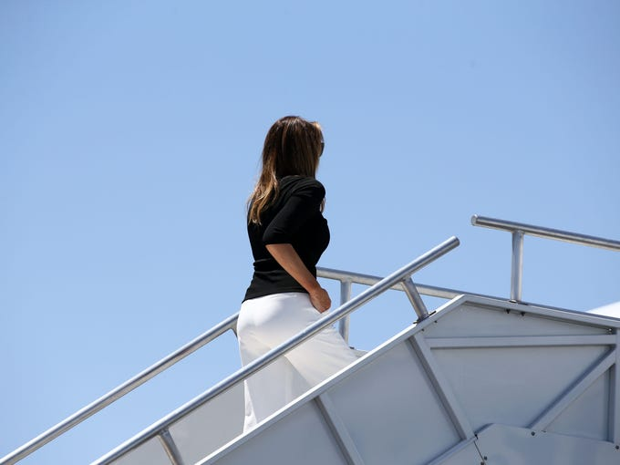 First lady Melania Trump departs from Sky Harbor International