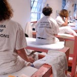 Inmates sit on their bunks at Julia Tutwiler Prison for Women in Wetumpka in a file photo. Alabama House members said they were hopeful about the prospects for a prison reform package.