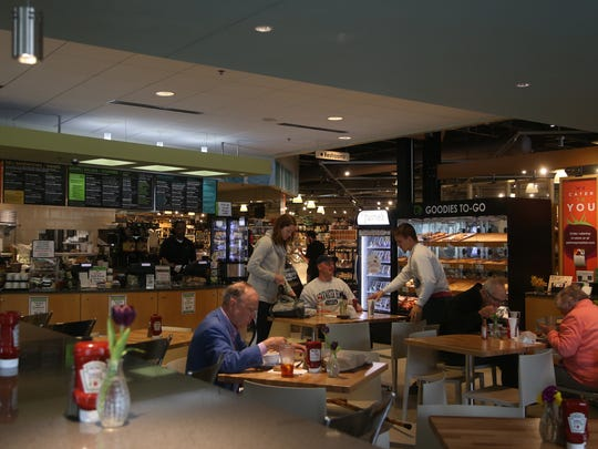 The recently remodeled cafe at Gateway Market on Wednesday, April 26, 2017, in Des Moines. The grocery store and cafe has been open for 10 years this April.