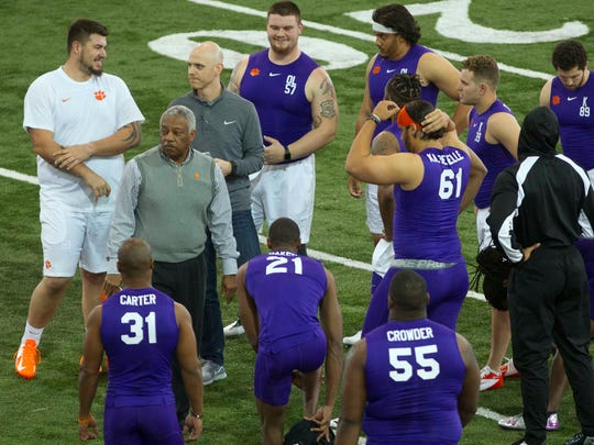 Clemson held their pro day at on Thursday, March 15, 2018.
