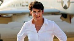 Retired Lt. Col. Amy McGrath, a former fighter pilot,
