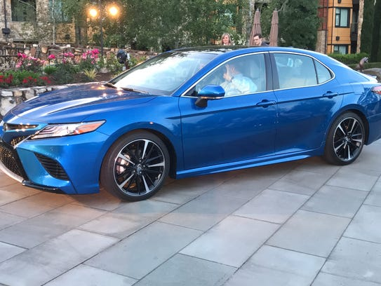 The 2018 Toyota Camry is photographed in Portland,