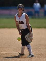 Marlboro High School's Cassie LaPointe pitches during the Section 9 Class B finals against Ellenville in Rhinebeck on Saturday.