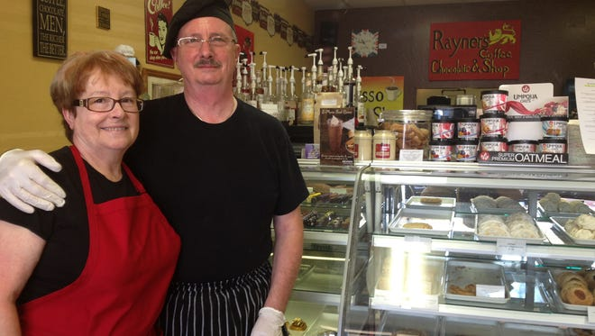 Pat and Tony Rayner's Glendale cafe specializes in Belgian chocolate, baked goods and English items.