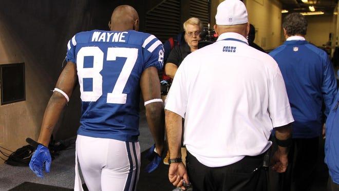 Colts WR Reggie Wayne tore an ACL Oct. 20, ending his season.
