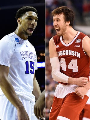It will be a battle of the big men between player of the year candidates Jahlil Okafor and Frank Kaminsky in the national title.