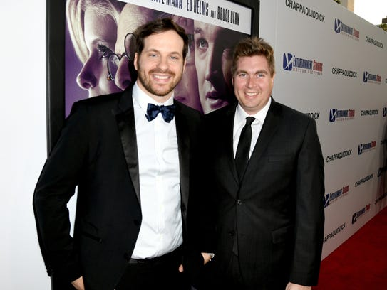 Writers and executive producers Taylor Allen (left)