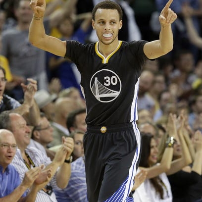 Golden State Warriors guard Stephen Curry is one of five players in the NBA Finals who played college ball in North Carolina.