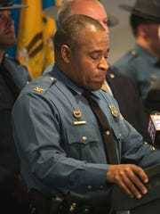 Col. Nathaniel McQueen, superintendent of Delaware State Police, shared details of the standoff between law enforcement and Burgon Sealy Jr. in Middletown in April.