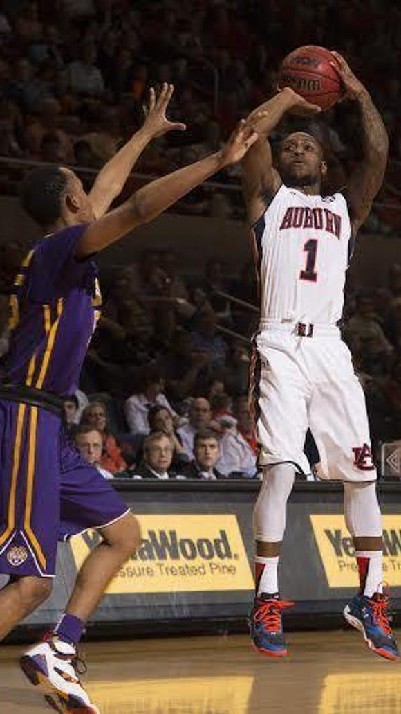 Auburn guard Kareem Canty scored 14 points in a 80-68 loss vs. LSU on Feb. 2.
