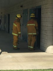 Firefighters searching for gas leak at Pinkham Elementary.