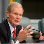 "MIAMI BEACH, FL - APRIL 22: U.S. Sen. Bill Nelson (D-FL) speaks as he chairs a hearing entitled, ""Leading the Way: Adapting to South Florida's Changing Coastline."" by the U.S. Senate Committee on Commerce, Science, and Transportation's Subcommittee on Science and Space at Miami Beach's City Hall on April 22, 2014 in Miami Beach, Florida. The Senator held the hearing to listen to local officials, scientists and others as they spoke about the results of global warming leading to rising seas, which will hit low-lying Florida, much of it barely above sea level with major flooding. (Photo by Joe Raedle/Getty Image s)"