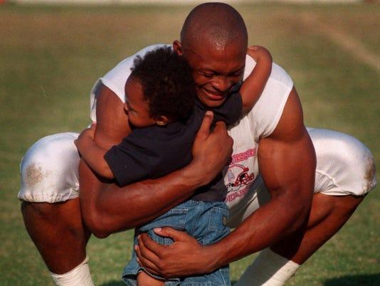 Eddie and Jaire practice 1998
