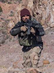 "Michael Pena as Sam Diller in ""12 Strong."""