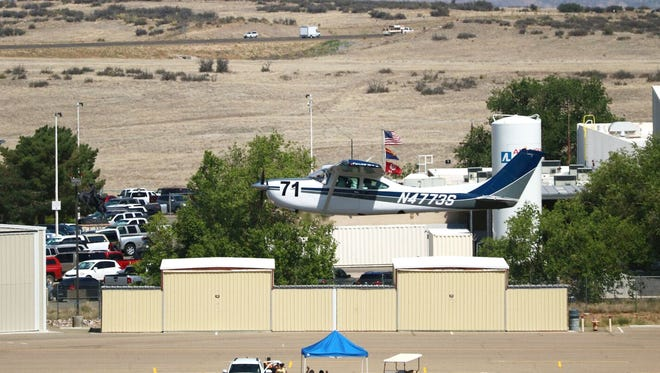 The start timing line at the Prescott Arizona Air Race Classic last year. The 2017 race will include five pilots from Ohio. The 52 planes and 111 female pilots will stop in Coshocton during the four-day race.