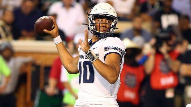 Utah State quarterback Jordan Love.