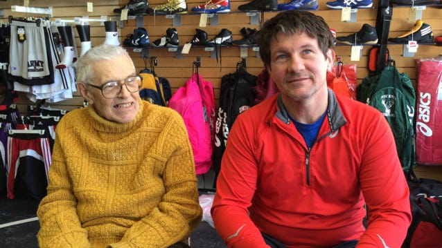 Davids runs the nearly 60-year-old store with his son, Tom Davids, right.