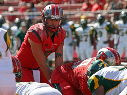 Rutgers quarterback Chris Laviano played most of the second half against Norfolk State.