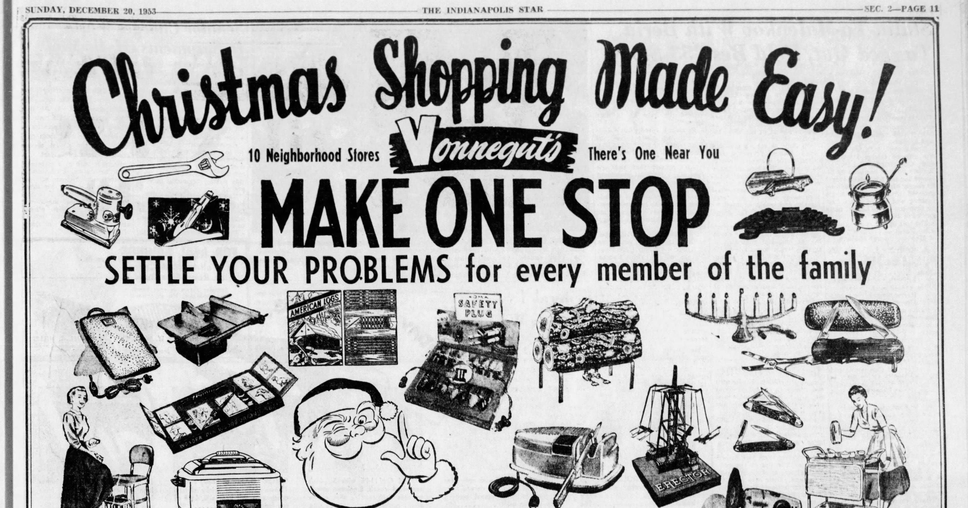 25 best vintage holiday ads that show what Indy wanted for Christmas
