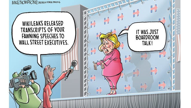 Mike Thompson comments on leaks of portions of Hillary Clinton's speeches to Wall Street.