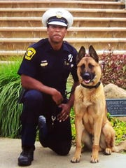 Officer Dane Billingsley and K9 Yaro.