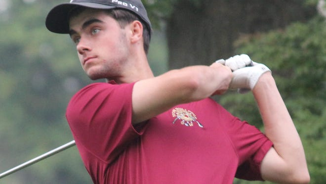 Stow resident Max Crookston watches his shot during a Division I sectional tournament last year.