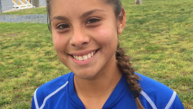 Jackie Fuentes scored three goals as St. Georges topped Delmar 3-1 in the opening round of the DIAA Division II Girls Soccer Tournament on Saturday.