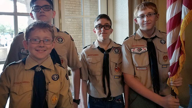 In this file photo, BSA Boy Scouts from Troop 13 present the colors at a YMCA event in 2017. For the first time, BSA is inviting girls, as well as boys, to join Cub Scouts. A Cub Scout sign-up night will be 6 p.m. Aug. 30 in all Wichita Falls, Burkburnett and Holliday elementary schools.