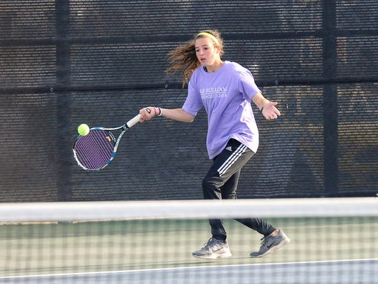 Wylie's Madison Andrews lines up a shot during the