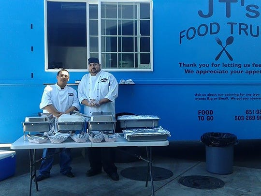Agustin Razo Jr. and Tino Land own JT's Food Truck.