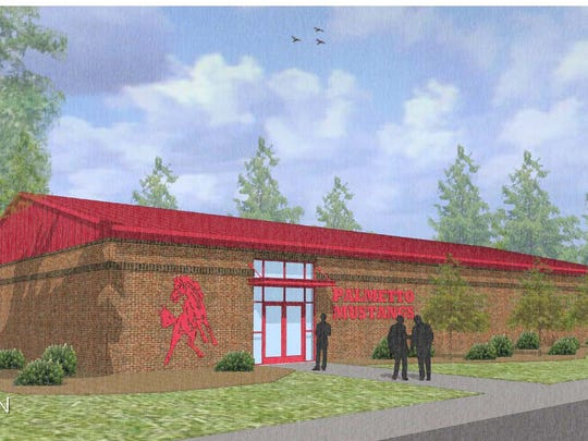Artist's rendering of the Palmetto High multipurpose building