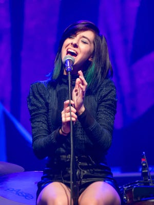 Christina Grimmie performs on stage at Center Stage on March 2, 2016 in Atlanta, Georgia.
