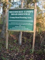 Miccosukee Greenway sign