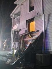 Shrewsbury Volunteer Fire Co. respond to a car crash