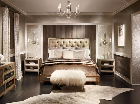 Inspired interiors dreamhome showcases fine furnishings for Glam bedroom ideas
