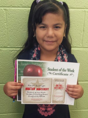 Dickson Elementary School Student of the Week - Sept. 14 - Maita Arteaga.