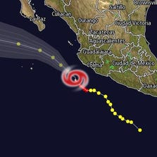 A detail from the 12 News Interactive Radar showing Hurricane Polo as of 3 p.m., Sept. 18, 2014.