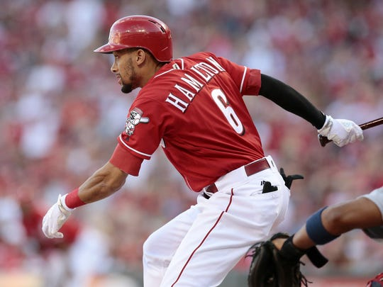 With a career-high on-base percentage, Billy Hamilton showed he can be the Reds' leadoff hitter.