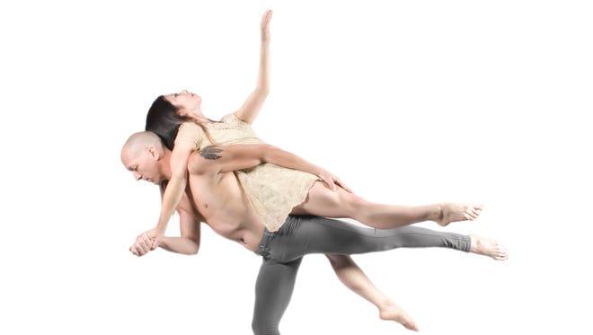 """Gavin Sisson and Elisa Maraie Cavallero in Scorpius Dance Theatre's """"L.O.V.E."""""""
