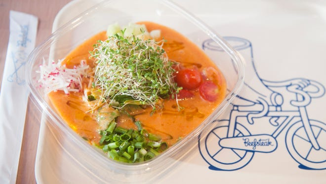 The Gazpacho Bowl is a healthy choice at the very healthy and affordable Beefsteak in Philadelphia.