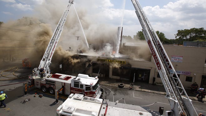 A fire that heavily damaged Faith Temple Worship Center on S. Fulton Ave. rekindled and spread around the corner on E 3rd street in Mount Vernon.